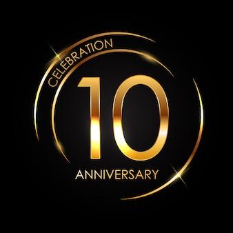 Template 10 years anniversary