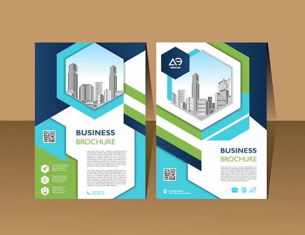 Template in a4 size annual report brochure design flyer promotion