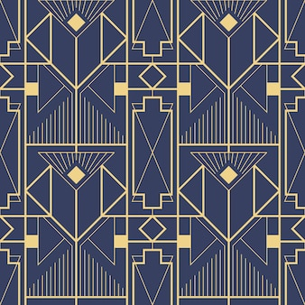 Template abstract art deco blue cs6