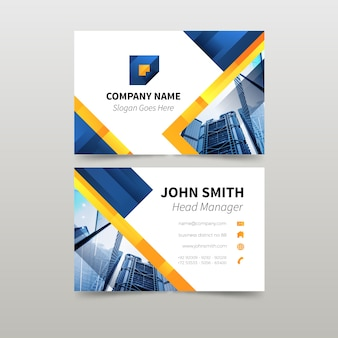 Template abstract business card with image