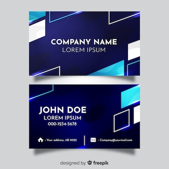 Template abstract business card