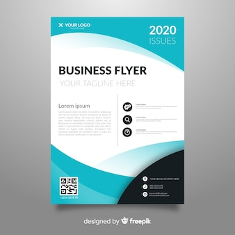 Template abstract business flyer