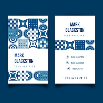 Template abstract classic blue business card