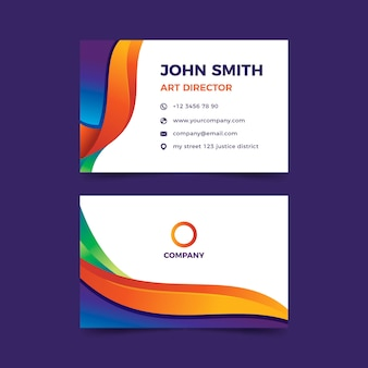 Template abstract colorful business card template