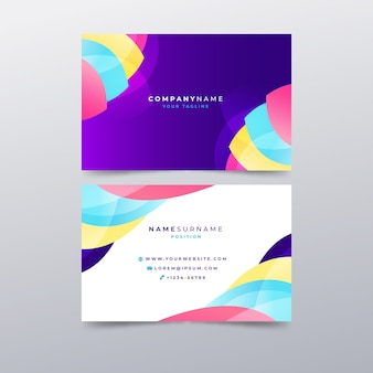 Template abstract colorful business card