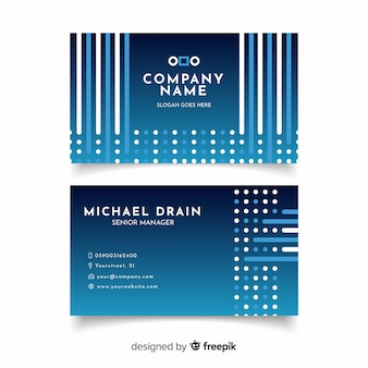 Template abstract geometric business card