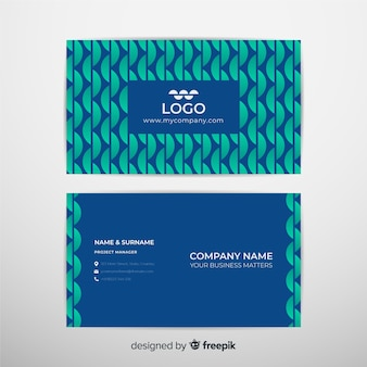 Template abstract geometric models business card