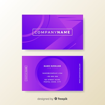 Template abstract gradient models business card