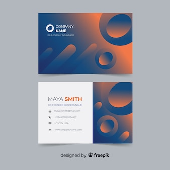 Template abstract gradient shapes business card