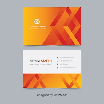 Template abstract gradient shapes business cardtemplate abstract gradient models business card