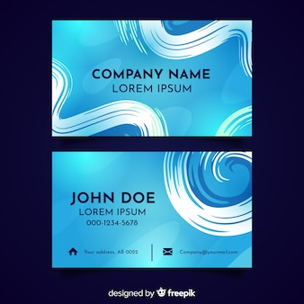 Template abstract hand painted business card