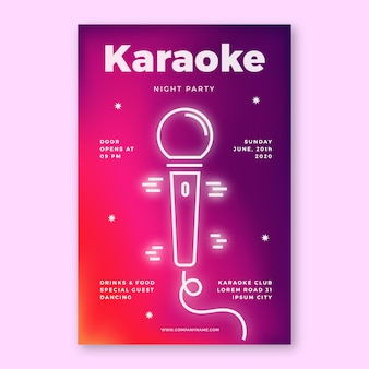 Template abstract karaoke poster template
