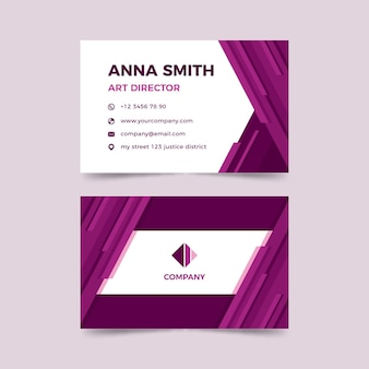 Template abstract monochromatic business card template