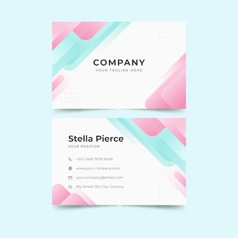 Template abstract monochromatic business card