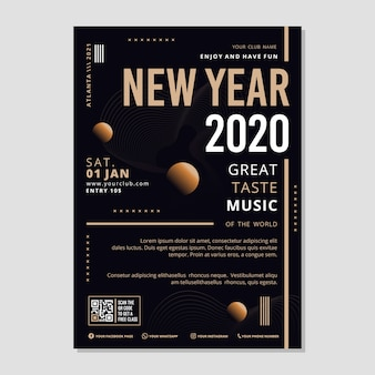 Template abstract new year party flyer