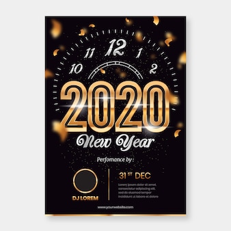 Template abstract new year party poster