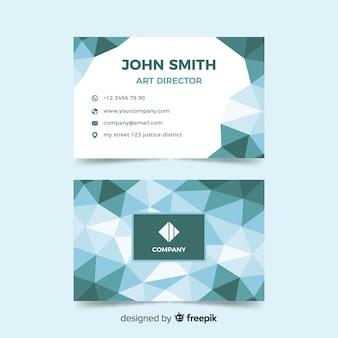 Шаблон абстрактный многоугольной визитная карточка