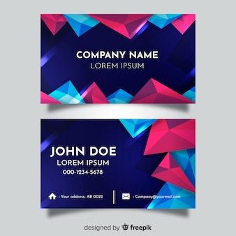 Template abstract polygonal business card