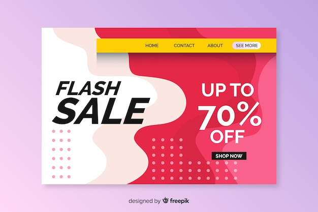 Template abstract sales landing page