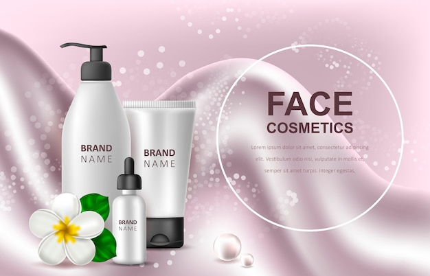 Template of advertising of cosmetic products