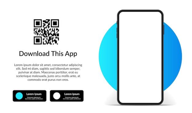 Шаблон рекламы для скачивания приложения для мобильного телефона