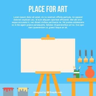 Template art studio