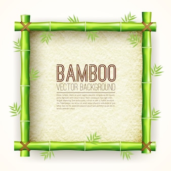 Template bamboo board with stretched paper for text place background