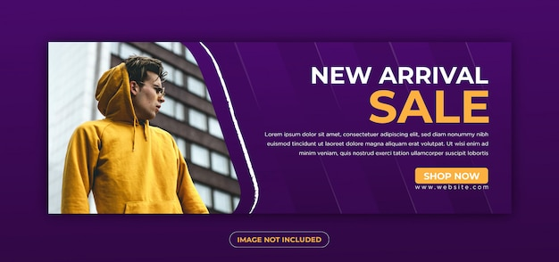 Template banner and facebook cover ads with indigo and mustard color