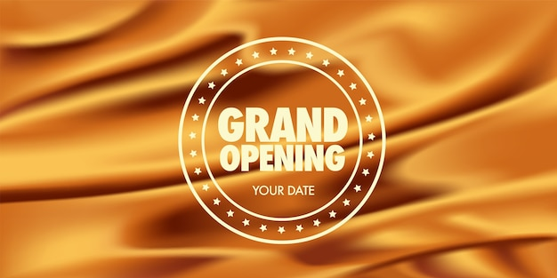 Template banner with graphic background and sign for opening event