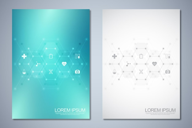 Template brochure or cover book, page layout, flyer design