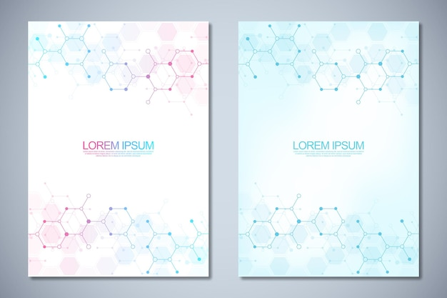 Template brochure or cover book, page layout