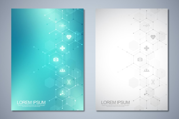Template brochure or cover book