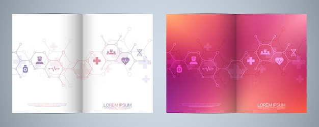 Template brochure or cover design