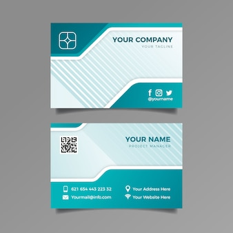 Template business card abstract