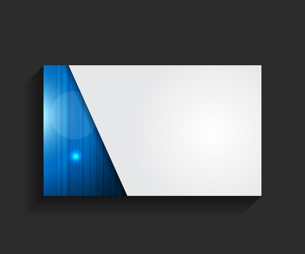 Template for business card illustration
