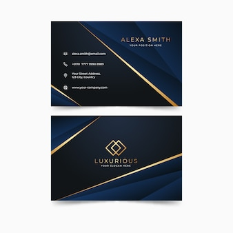 Template business card luxury