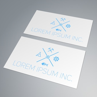 Template of business card. mock-up for your projects