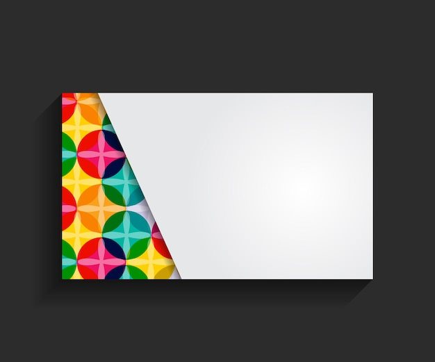 Template for business card vector illustration