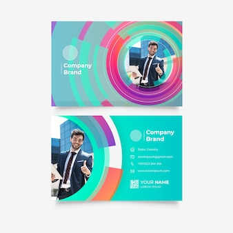 Template for business card with circles