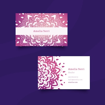 Template for business card with mandala