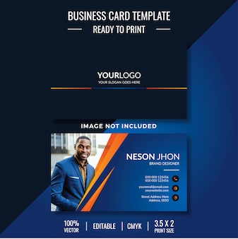 Template business card with photo