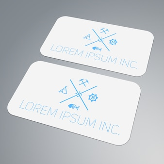 Template of business card