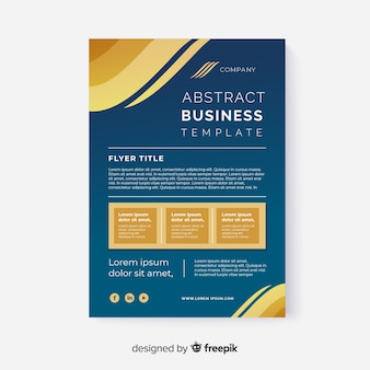 Template business flyer abstract