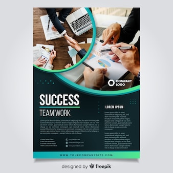 Template business flyer with image