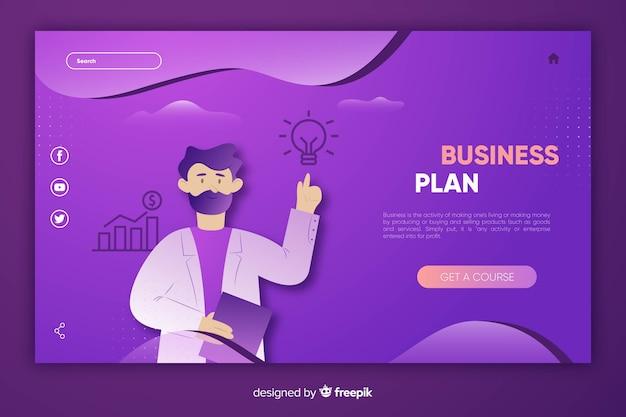 テンプレートビジネスのランディングページ