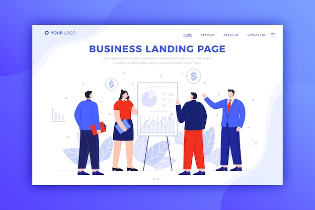 Template for business landing page