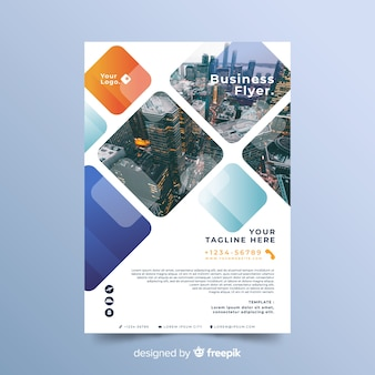 Template for business with mosaic design
