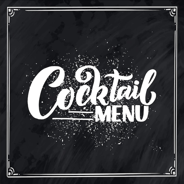 Template for card banner and poster for bar menu and restaurant