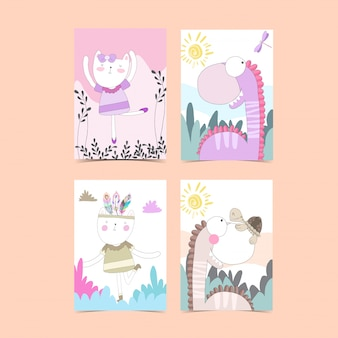 Template card collection for baby shower