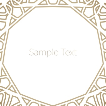 Template for card with golden ornament